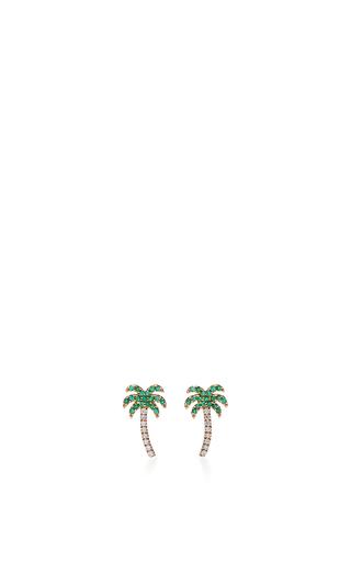 Medium sydney evan green palm tree studs