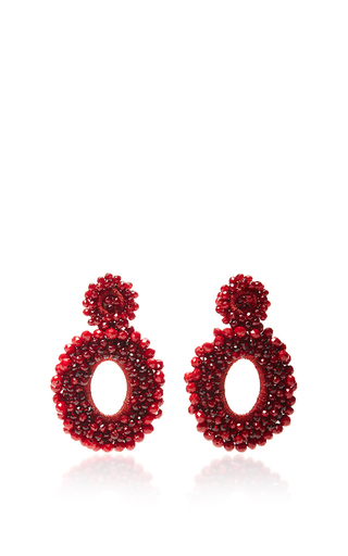 Medium bibi marini red m o exclusive beaded drop earrings