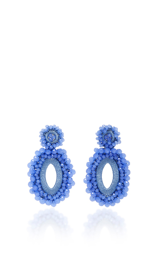 Medium bibi marini blue m o exclusive beaded drop earrings 2
