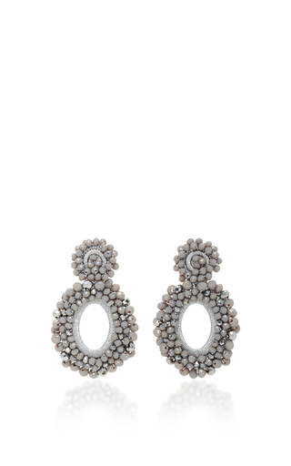 Medium bibi marini dark grey m o exclusive beaded drop earrings 3