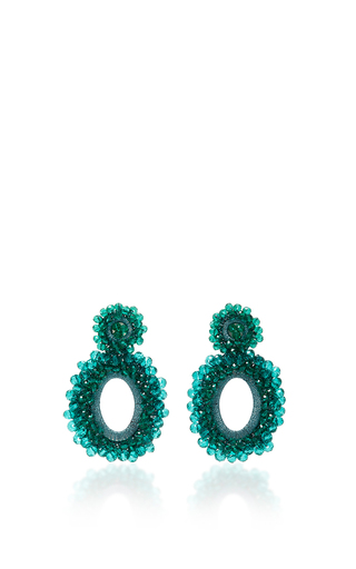 Medium bibi marini green m o exclusive beaded drop earrings 4