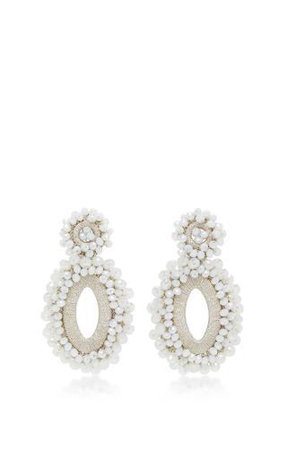 Medium bibi marini white m o exclusive beaded drop earrings 6