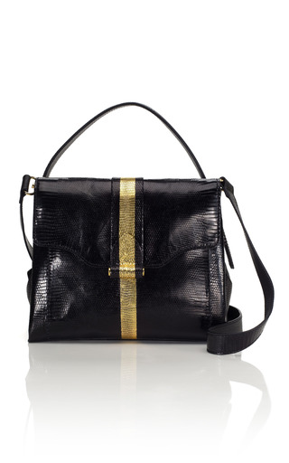 Medium derek lam black lizard small charley bag