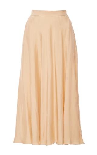 Medium rossella jardini yellow full flare skirt