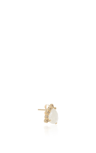 Moonstone And Diamond Stud by JACQUIE AICHE Now Available on Moda Operandi