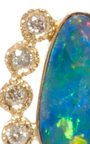 Opal And Diamond Stud by JACQUIE AICHE Now Available on Moda Operandi