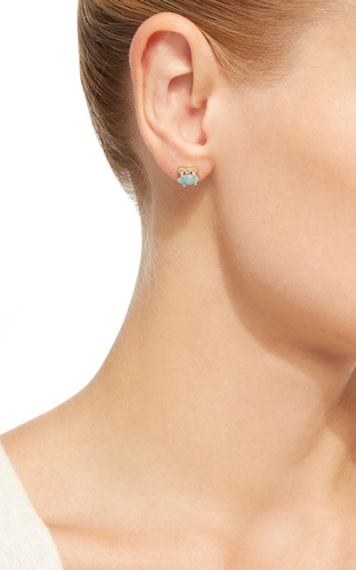 Opal Marquise And Diamond Stud by JACQUIE AICHE Now Available on Moda Operandi