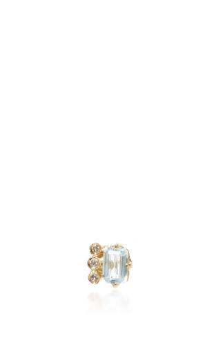 Aquamarine And Diamond Stud by JACQUIE AICHE Now Available on Moda Operandi