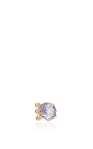 Medium jacquie aiche blue tanzanite and diamond stud