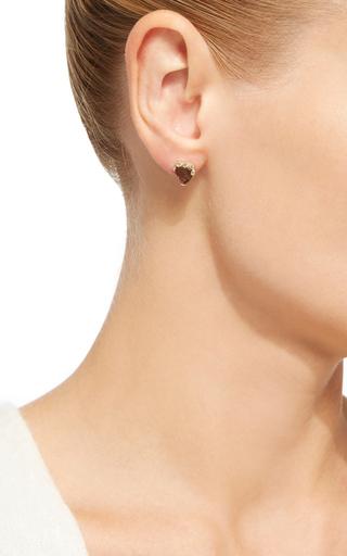 Tourmaline And Diamond Stud by JACQUIE AICHE Now Available on Moda Operandi