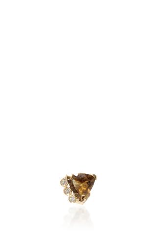 Medium jacquie aiche brown tourmaline and diamond stud
