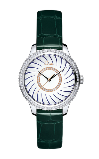 Medium dior timepieces green dior viii montaigne ligne corolle