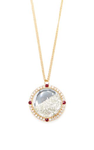 Medium renee lewis red diamond and ruby shake necklace