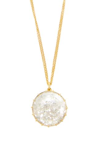 Medium renee lewis gold white diamonds shake necklace