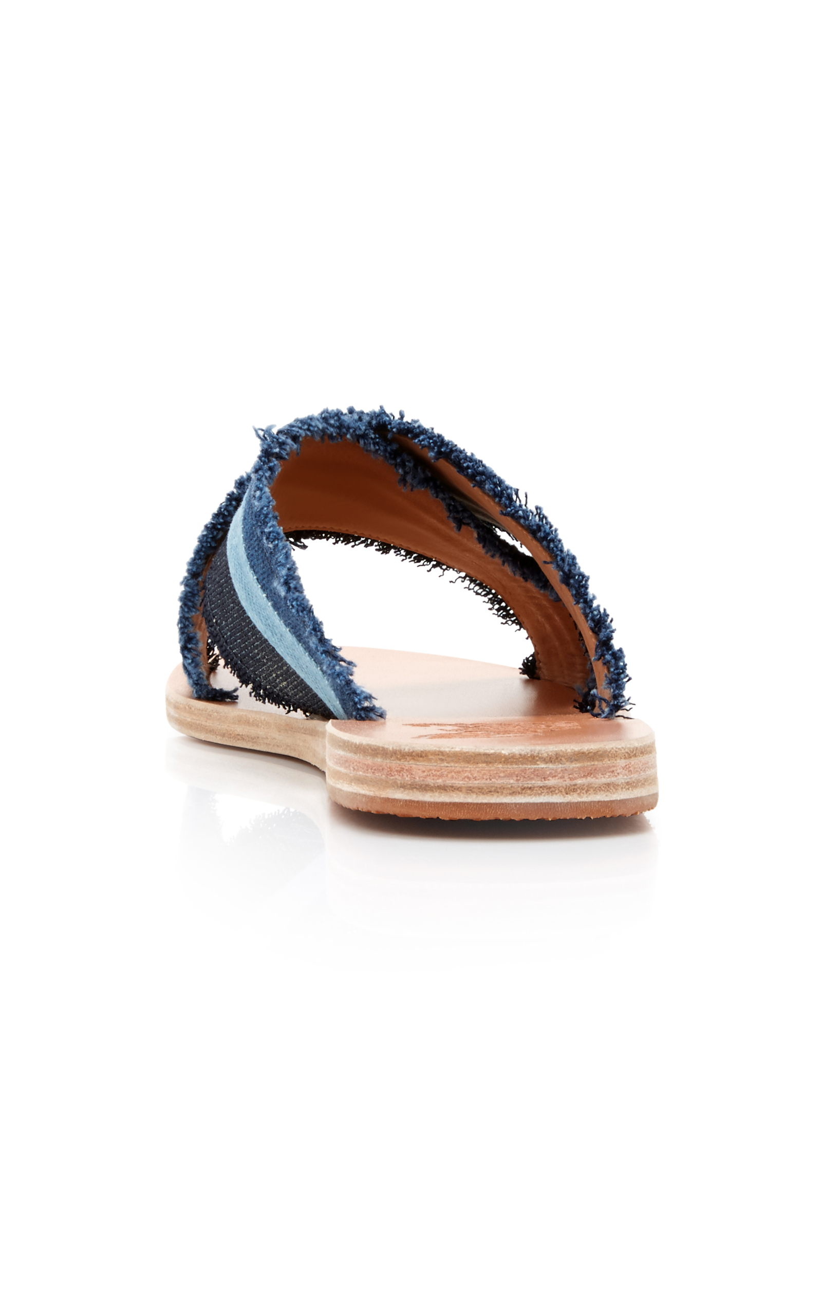 Ancient Greek Sandals Thais Patchwork Denim Sandal
