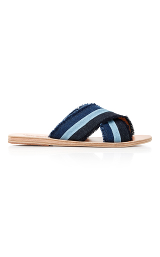 Medium ancient greek sandals medium wash thais patchwork denim sandal