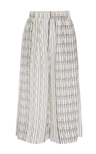 Medium asceno print printed silk crepe culottes