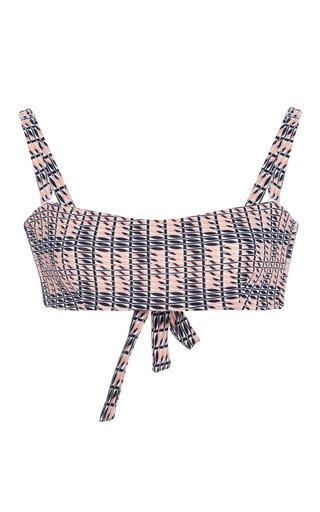Medium asceno print printed bandeau bikini top
