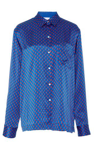 Medium asceno print button front pajama top