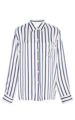 Medium asceno stripe striped button front pajama top