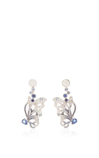 Medium anna hu blue butterfly earrings