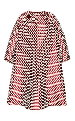 Medium dice kayek multi polka dot oversized coat