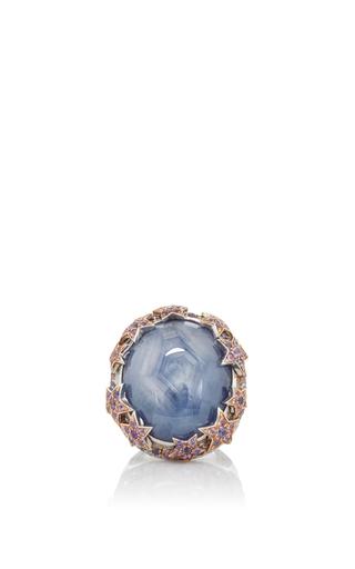 Medium katherine jetter blue grey star sapphire ring
