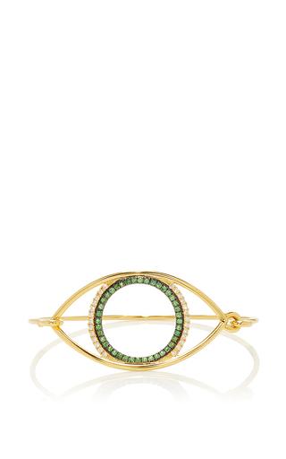 Medium marianna goulandris green avra eye bangle 2
