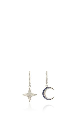 Medium marianna goulandris blue celestial drop earrings