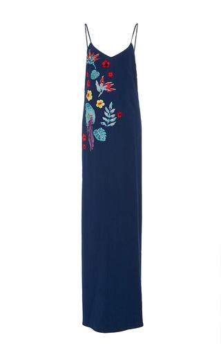 Medium christina economou dark wash tina embellished denim dress