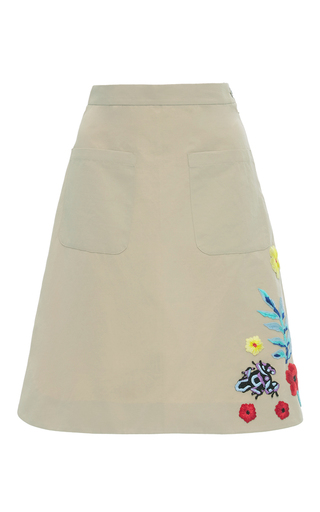 Medium christina economou tan safari embellished skirt