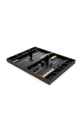 Medium alexandra llewellyn black cigar bespoke backgammon set