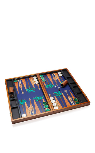 Medium alexandra llewellyn blue m o exclusive bespoke backgammon set