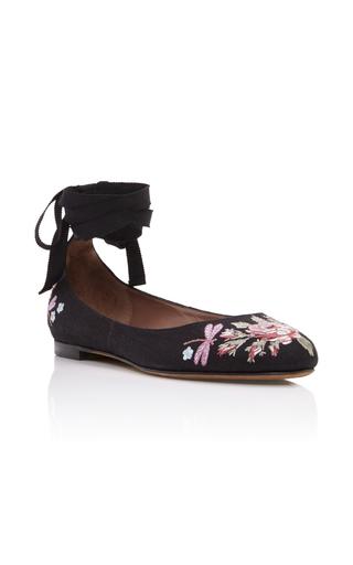 Medium tabitha simmons black daria rose ballerina flats
