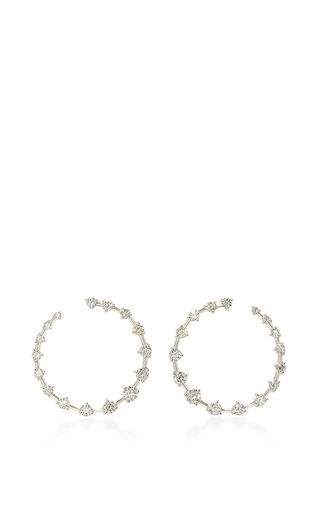 Medium jade trau silver crescent hoop earrings 2