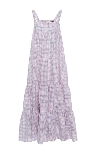 Medium mds stripes plaid wyatt tiered cami dress 2
