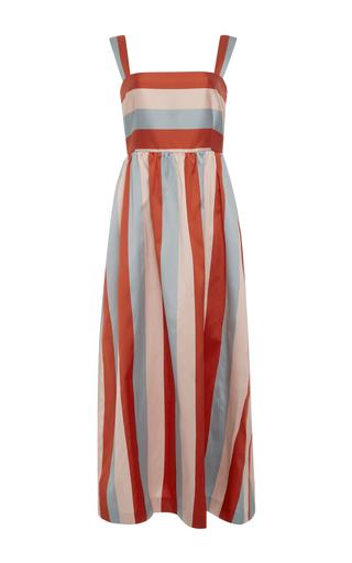 Medium red valentino stripe striped twill dress