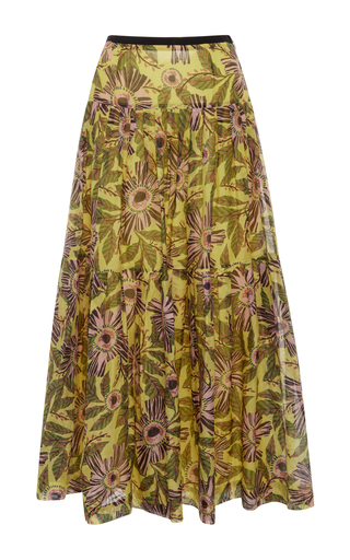 Medium red valentino print limone print max skirt