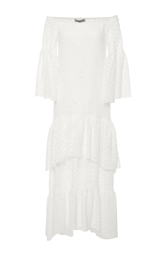 Medium maison pere white off the shoulder lace dress