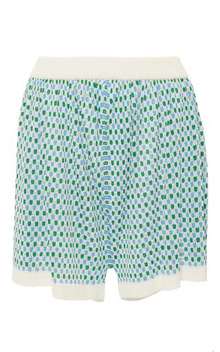 Medium maison pere print high waist knit shorts