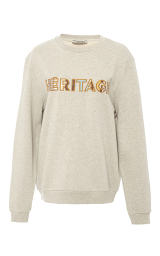 Medium maison pere light grey iconic heritage embroidered sweatshirt