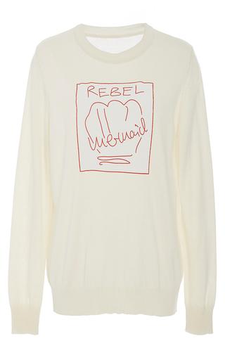 Medium malaikaraiss white bequia cotton jumper