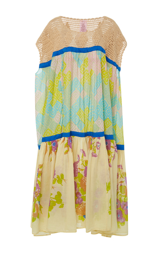 Medium yvonne s print crochet pleated maxi dress