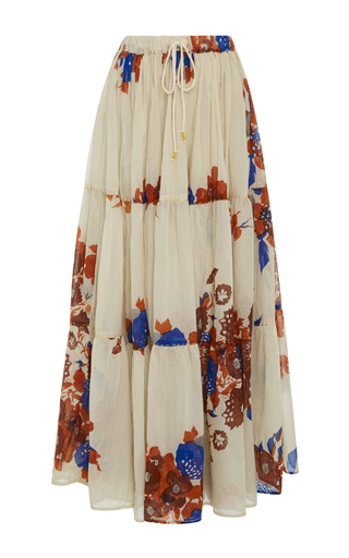 Medium yvonne s floral floral drawstring maxi skirt