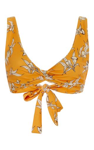 Medium camp cove yellow lena knot bikini top