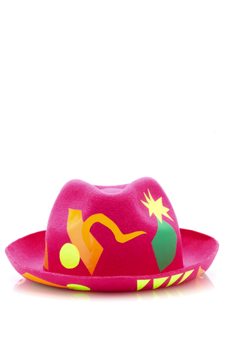 Medium laura apsit livens fuchsia flamenco trilby