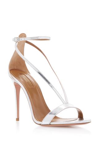 Medium aquazzura silver casanova metallic leather sandals