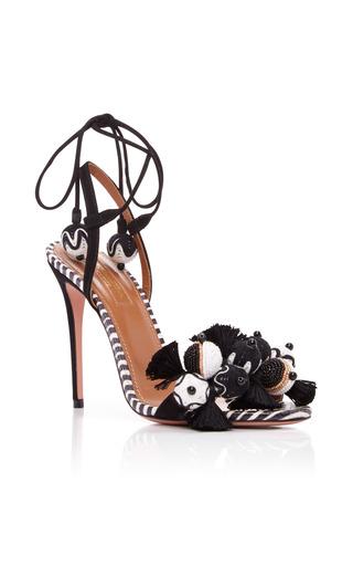 Medium aquazzura black tropicana sandals