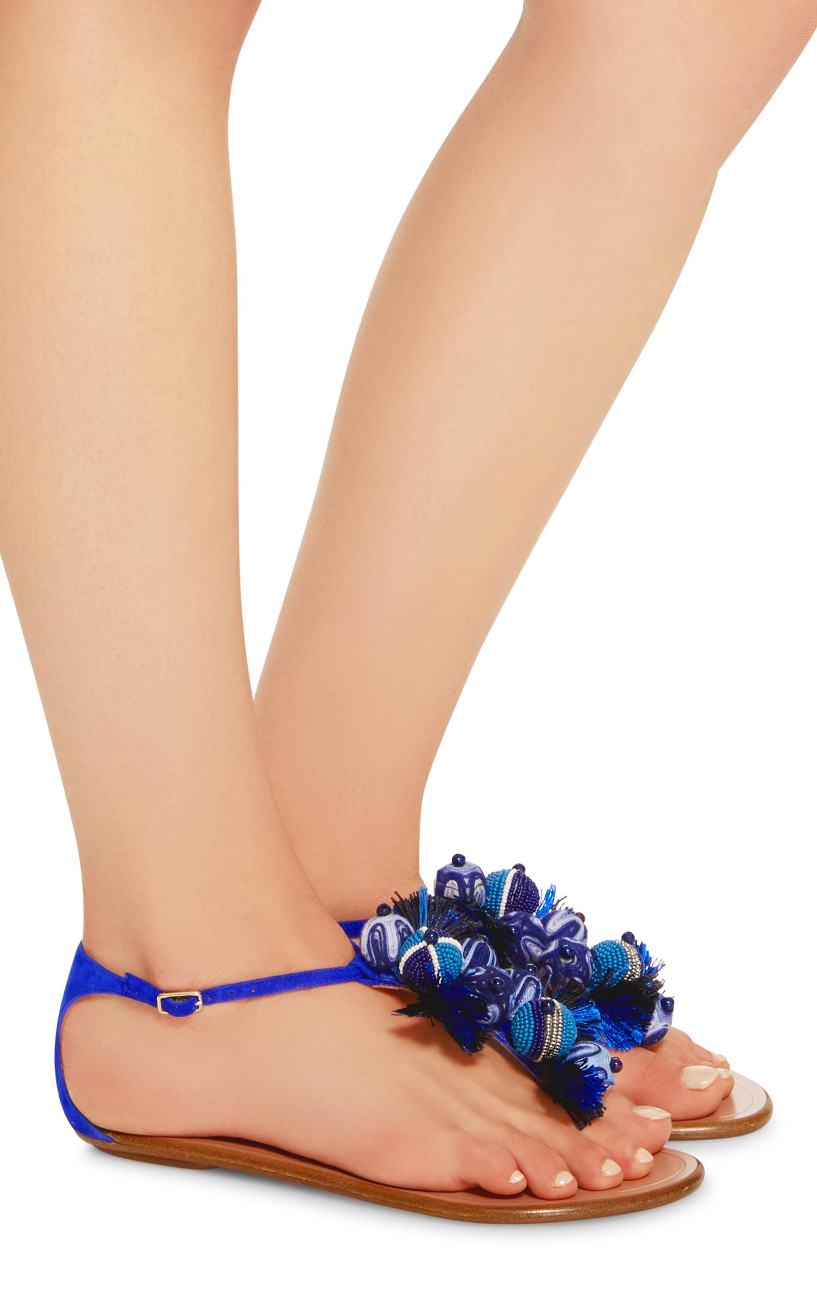 f513d7071 AquazzuraTropicana Embellished Suede Sandals. CLOSE. Loading