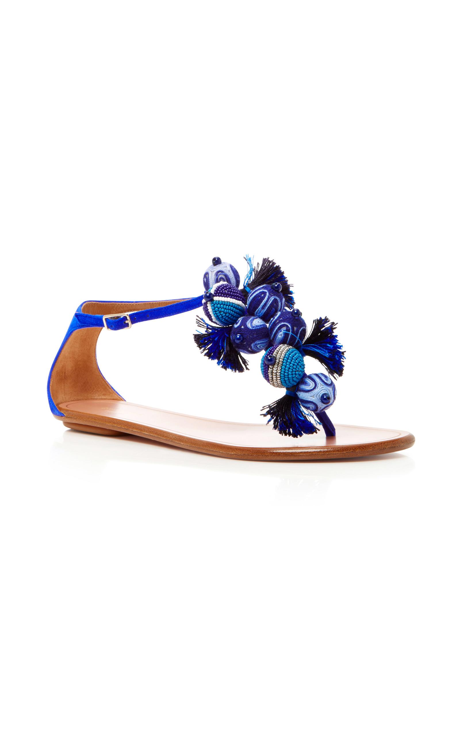 Tropicana Embellished Suede Sandals